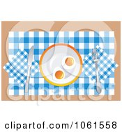 Royalty Free Vector Clip Art Illustration Of Two Sunny Side Up Eggs On A Plate