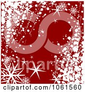 Royalty Free Vector Clip Art Illustration Of A Background Of Snowflakes Stars And Snow On Red
