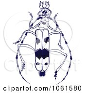 Clipart Rosalia Alpina Beetle Black And White Royalty Free Vector Illustration