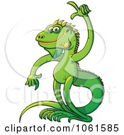Clipart Iguana With An Idea Royalty Free Vector Illustration