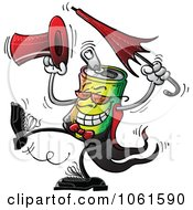 Clipart Dancing Aluminum Can Royalty Free Vector Illustration