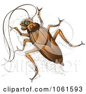 Clipart Grinning Cockroach Royalty Free Vector Illustration by Zooco