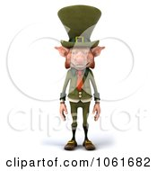 Clipart 3d Skinny Leprechaun Royalty Free CGI Illustration by Julos