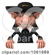 Clipart 3d Korrigan Dwarf Holding A Sign Royalty Free CGI Illustration