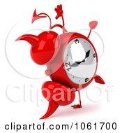 Clipart 3d Devil Alarm Clock Doing A Cartwheel Royalty Free CGI Illustration