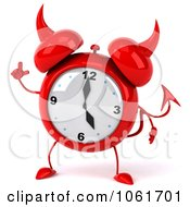Clipart 3d Devil Alarm Clock With An Idea Royalty Free CGI Illustration by Julos