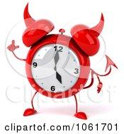 Clipart 3d Devil Alarm Clock With An Idea Royalty Free CGI Illustration