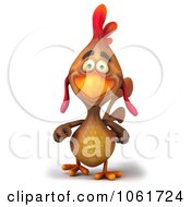 Clipart 3d Brown Rooster Walking 1 Royalty Free CGI Illustration by Julos