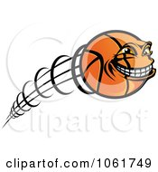 Clipart Fast Basketball Character Royalty Free Vector Illustration