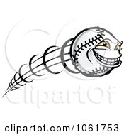 Clipart Fast Softball Character Royalty Free Vector Illustration by Vector Tradition SM