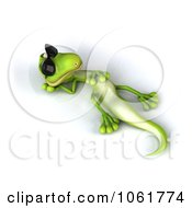 Clipart 3d Gecko Reclined In Sunglasses 2 Royalty Free CGI Illustration