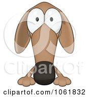 Cartoon Brown Pookie Wiener Dog Sign 1