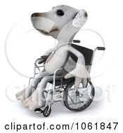 Clipart 3d Disabled Jack Russell Terrier In A Wheelchair 2 Royalty Free CGI Illustration