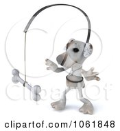 Clipart 3d Jack Russell Terrier Chasing A Bone Royalty Free CGI Illustration