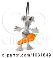 Clipart 3d Jack Russell Terrier Chasing A Carrot 1 Royalty Free CGI Illustration