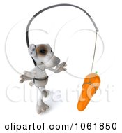 Clipart 3d Jack Russell Terrier Chasing A Carrot 2 Royalty Free CGI Illustration
