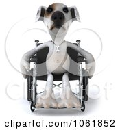 Clipart 3d Disabled Jack Russell Terrier In A Wheelchair 1 Royalty Free CGI Illustration