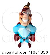 Clipart 3d Smiling Super Dude Royalty Free CGI Illustration