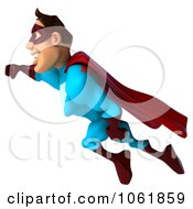 Clipart 3d Flying Super Dude 1 Royalty Free CGI Illustration by Julos