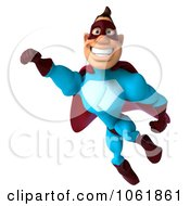 Clipart 3d Flying Super Dude 2 Royalty Free CGI Illustration by Julos
