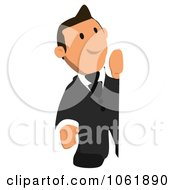 Clipart Business Toon Guy With A Sign 2 Royalty Free CGI Illustration