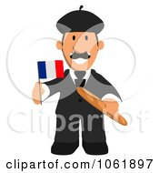Clipart French Business Toon Guy 1 Royalty Free CGI Illustration