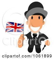 Clipart English Business Toon Guy 3 Royalty Free CGI Illustration