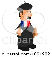 Clipart French Business Toon Guy 2 Royalty Free CGI Illustration