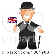 Clipart English Business Toon Guy 1 Royalty Free CGI Illustration