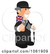Clipart English Business Toon Guy 2 Royalty Free CGI Illustration