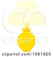 Clipart Yellow Table Lamp Royalty Free Vector Household Illustration