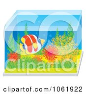 Clipart Marine Fish In A Saltwater Tank Royalty Free Illustration