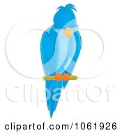 Clipart Blue Sleeping Perched Bird Royalty Free Illustration