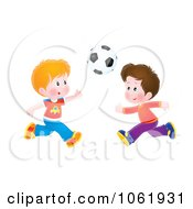 Clipart Boys Playing Soccer Royalty Free Illustration
