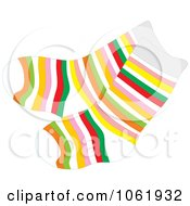 Clipart Socks With Colorful Stripes Royalty Free Vector Fashion Illustration by Alex Bannykh