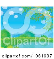 Clipart Lush Pond Landscape Royalty Free Illustration by Alex Bannykh