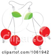 Clipart Bing Cherry Earrings Royalty Free Vector Jewelry Illustration