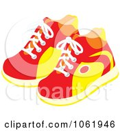 Clipart Pair Of Sneakers Royalty Free Vector Fashion Illustration