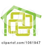 Clipart Green Home Royalty Free Vector Illustration