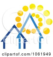 Clipart Solar Powered House 2 Royalty Free Vector Illustration