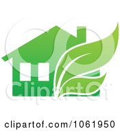 Clipart Eco Home 2 Royalty Free Vector Illustration