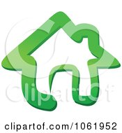 Clipart Green Home Page Icon Royalty Free Vector Illustration by Vector Tradition SM