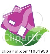 Clipart Eco Home 3 Royalty Free Vector Illustration