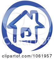 Clipart Blue Home Page Icon Royalty Free Vector Illustration