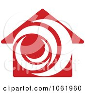 Clipart Red House Logo 2 Royalty Free Vector Illustration