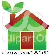 Clipart Eco Home 1 Royalty Free Vector Illustration
