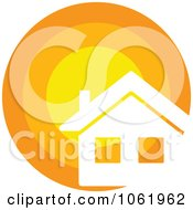 Clipart Solar Powered House 3 Royalty Free Vector Illustration