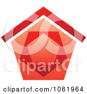 Clipart Red House Logo 1 Royalty Free Vector Illustration