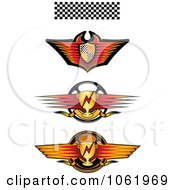 Clipart Race Car Banners Digital Collage Royalty Free Vector Illustration