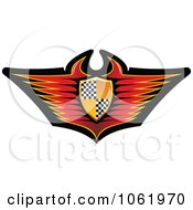 Clipart Race Car Shield Banner Royalty Free Vector Illustration